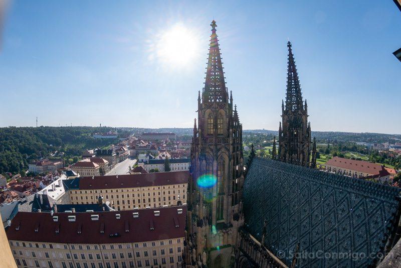 Miradores de Praga Torre Catedral Tejado