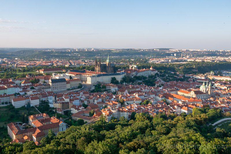 Miradores de Praga Torre Petrin Castillo