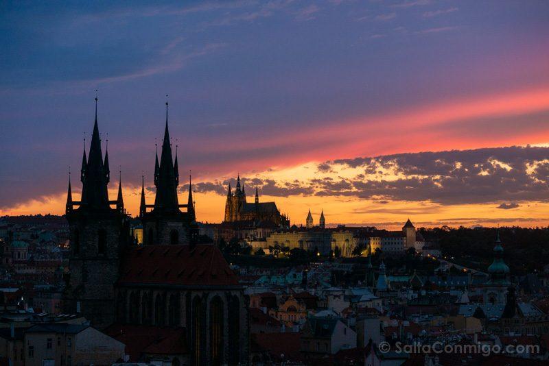 Miradores de Praga Torre Polvora Castillo Azul