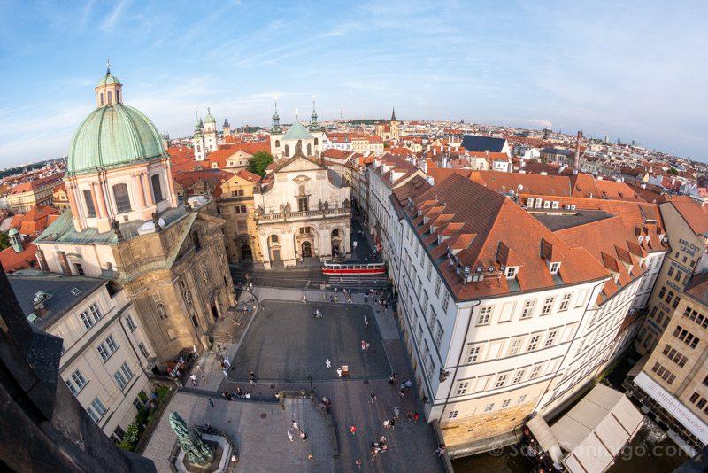 Miradores de Praga Torre Puente Ciudad Vieja Plaza Krizovnicke