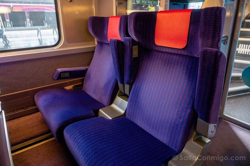 Ouigo Tren Asientos XL